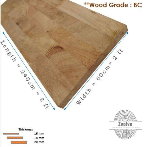 Rubber Wood Board 25mm x 60cm x 240cm (Grade BC)   Kayu Papan   Kayu Getah   Papan DIY   Papan Getah  