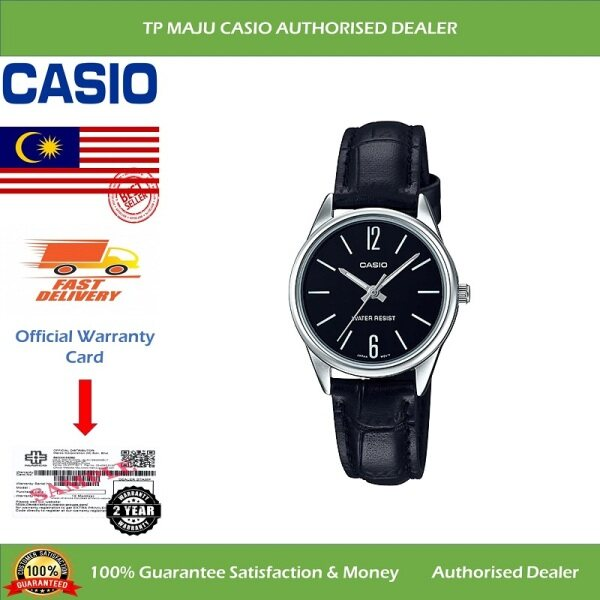 [PRE-ORDER] CASIO LTP-V005L Analog Ladies Casual Formal Luxury Watch Water Resistant Black Dial & Leather Band for Women - LTP-V005L-1BUDF ( Official 2 Years Warranty ) Courier in 7 days (ETA: 2021-06-07) Malaysia