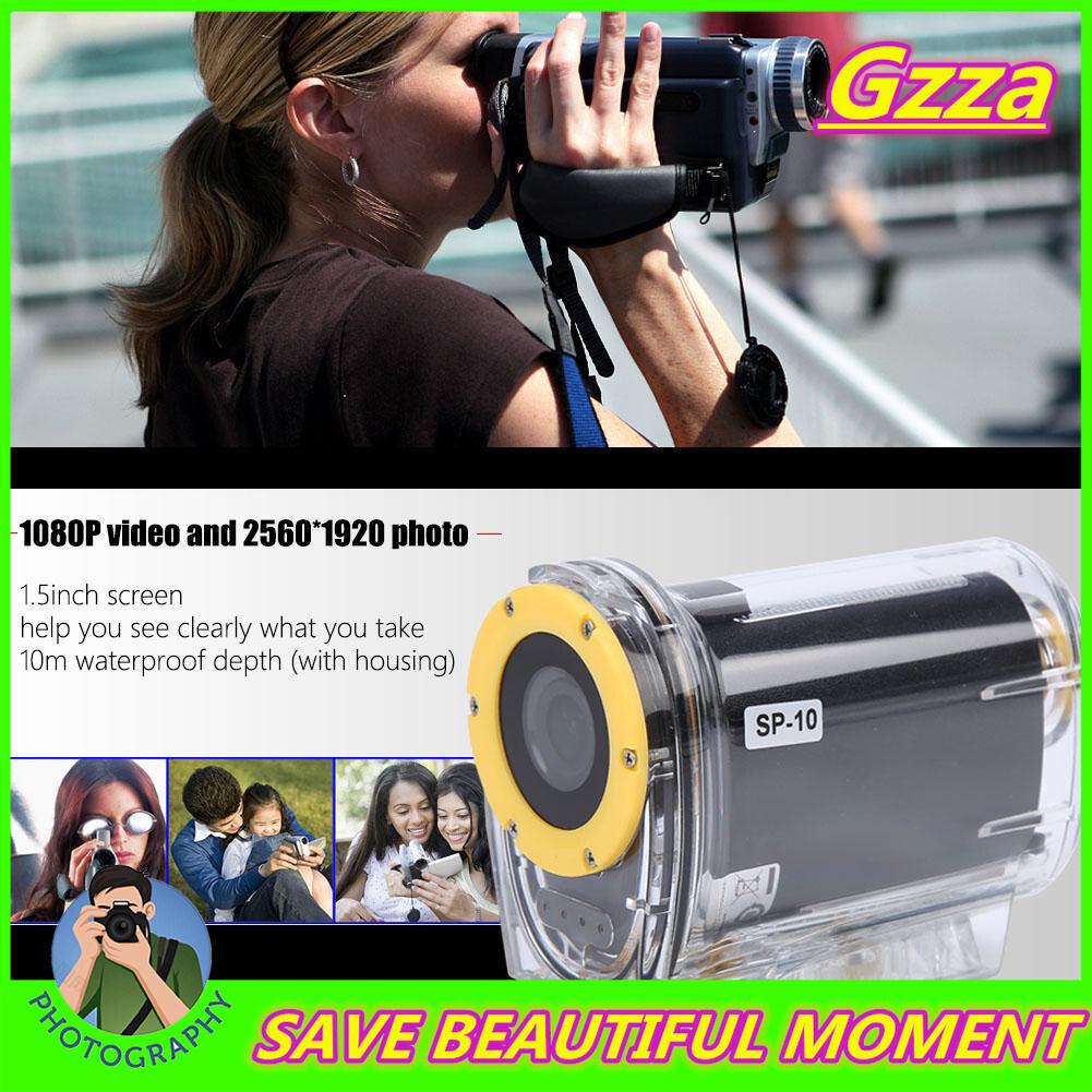 Gzza【cod】【free Shipping】 SP10 Ngoài Trời 10 M Chống Thấm Nước Di Động HD 1080P WIFI Thể Thao Hành Động Video Bộ Màn Hình 1.5 Inch Trượt Tuyết Bơi Thể Thao Camera WS Khuyến Mại Hot