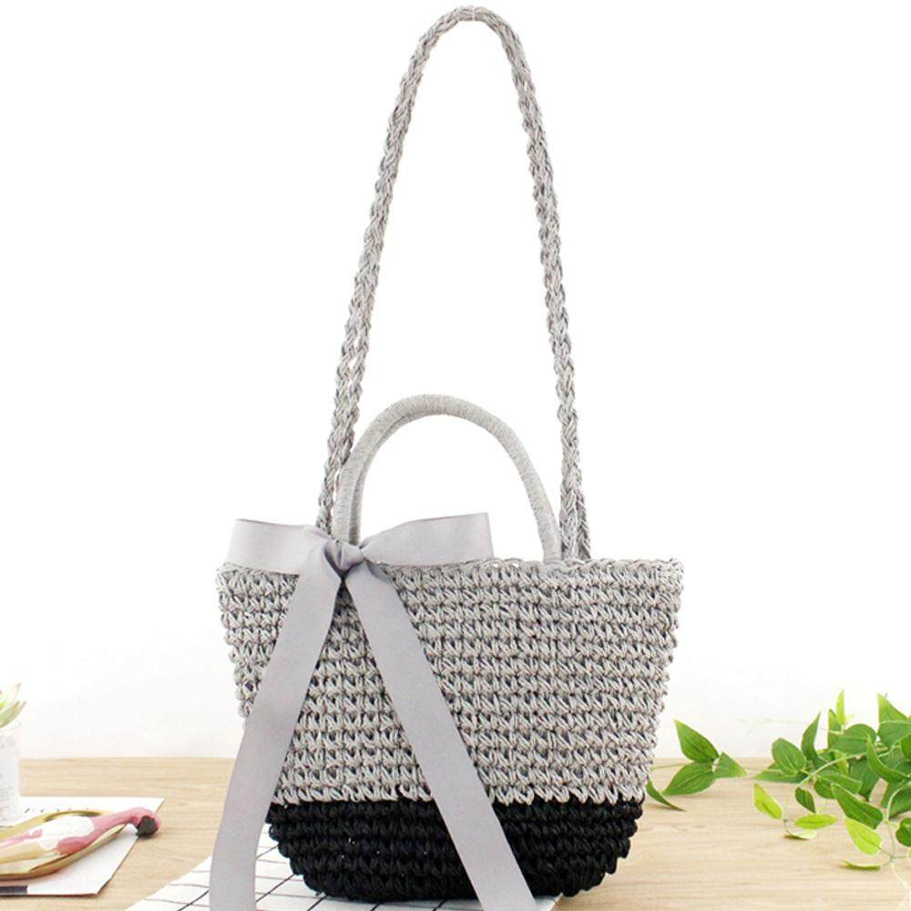 ad921bd6fa3 Ready stock Minimalist Artsy Vintage Mori Fashionable Weave Bag Vacationing  Beach Summer Paper Strings Shoulder Bags