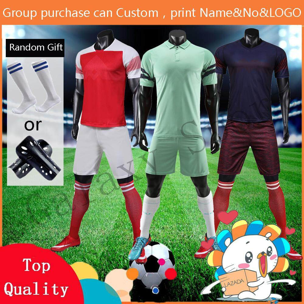 wholesale dealer ababd 4c4d4 Jersey Custom Made A Set jersey Plain AC Milan Ajax Arsenal PSG Barcelona  Nameset Home and Away and 3rd Training shirt and Pants Football clothes For  ...