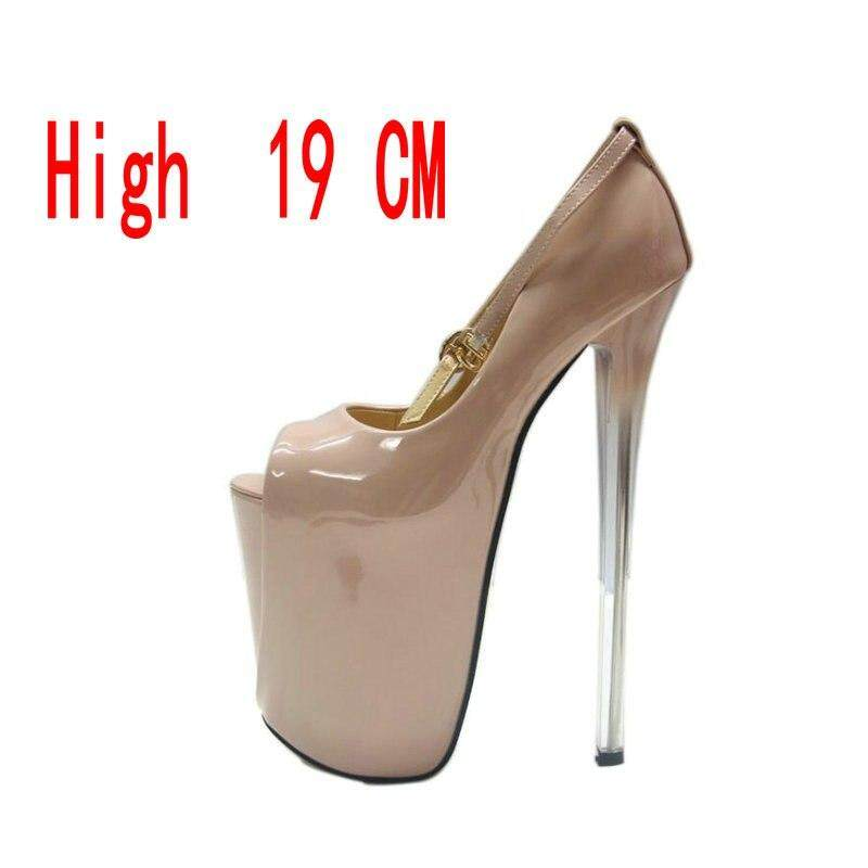 d3a097dc22d 19CM.16 CM.22CM BIG SIZE 34-43 Ladies Thin Heels Pumps Platform