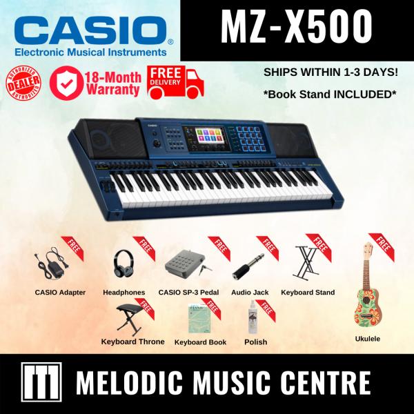 【Local Ready Stock】Casio MZ-X500 61-Keys Arranger Keyboard COMPLETE PACKAGE (MZX500 / MZ X500 / MZX-500 / MZX 500) Malaysia