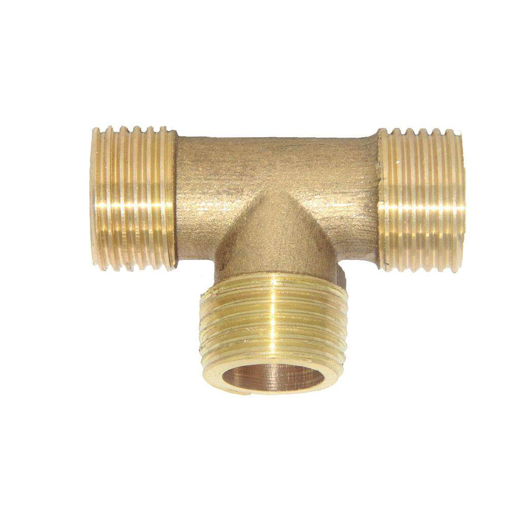 Loviver 1/2 Brass Pipe T Type Thread Joint Fitting Coupling Connector DN15