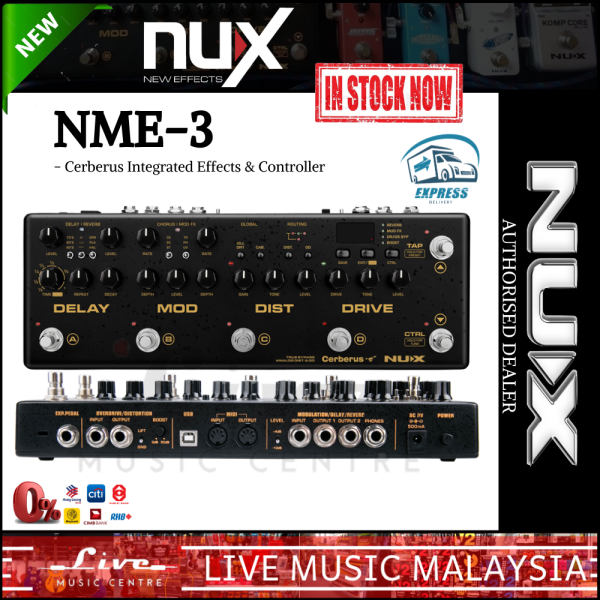 NUX NME-3 Cerberus - Integrated Effects & Controller (NME3) Malaysia