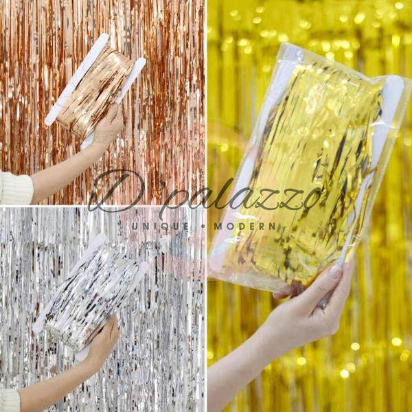 Rain Curtain Tassel Garland Metallic Foil Fringe Party Background Decoration