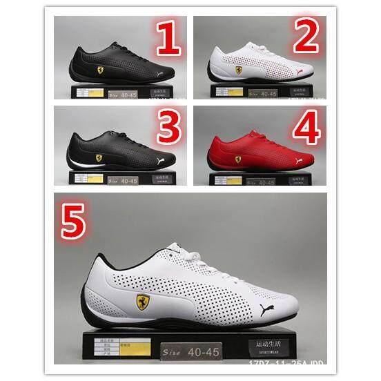 5 Warna 100% Ori PUMA Ferrari Racing Sepatu Pria Putih Merah Hitam Kasut 0382a0050d