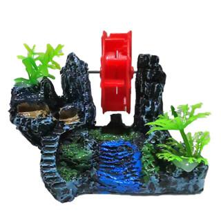 Huanhuang Nhựa Nhân Tạo Waterwheel Rockery Bể Cá Hồ Cá Đồ Trang Trí Cảnh Quan thumbnail