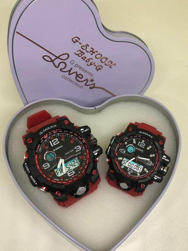 G-MAXX COUPLE WATCHES SET (RED BLACK) Malaysia