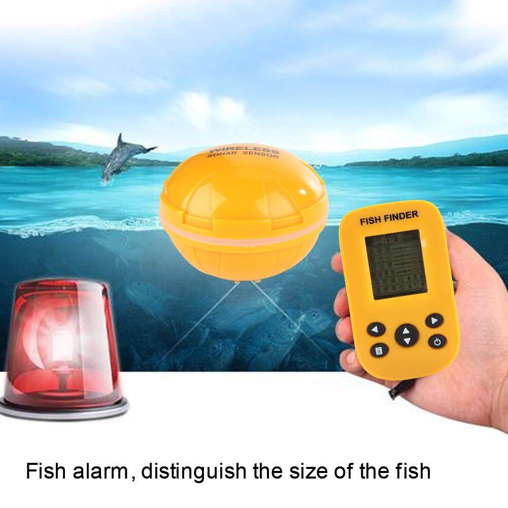 0.6-100 M Kedalaman 125 KHz Tahan Air Portable Sonar Nirkabel Pencari Ikan dengan Layar LCD