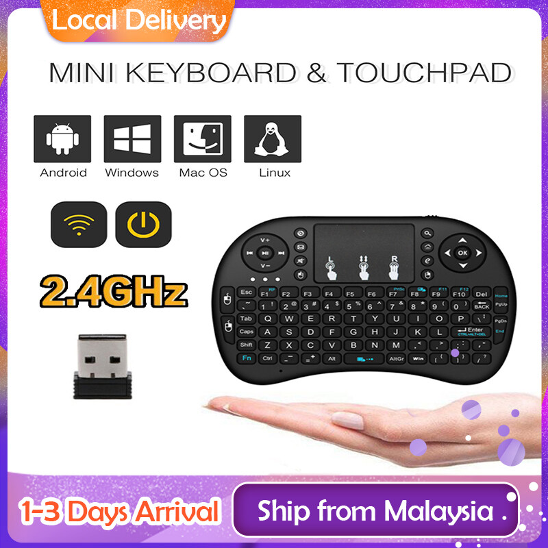 Mini i8 English Version 2.4GHz Wireless Keyboard Air Mouse With Touchpad Handheld Work With Android TV BOX Mini PC 18 Pad, Xbox 360, Ps3,Htpc, Iptv Malaysia