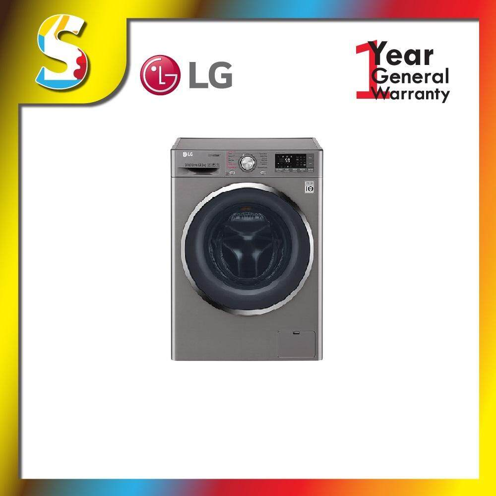 LG -TWC1450H2E 10.5/7KG, LG TWINWash™ Washer Dryer with 6 Motion Inverter Direct Drive and TrueSteam™