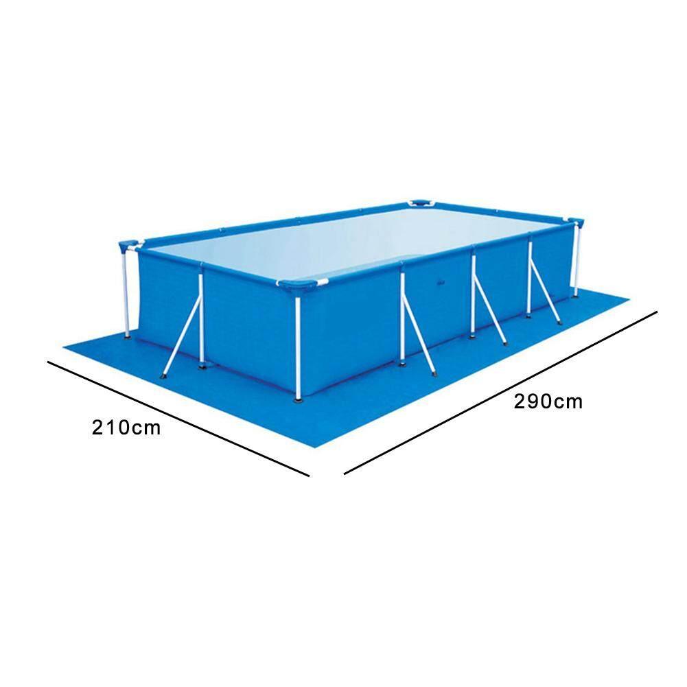 4 kích thước Khung Hình Chữ Nhật Bể Ống NHỰA PVC Giá Bể Chân Đế Lớn Họ Người Lớn Trẻ Em Giải Trí Bơi Nước Bể Bơi Tại Nhà ngoài trời Dễ Dàng Vệ Sinh (Chỉ thảm) Nhật Bản
