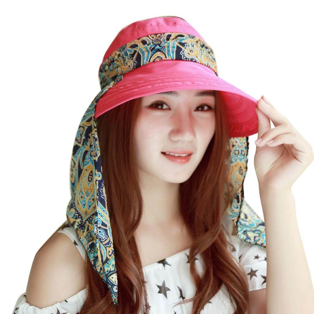 eaae63437da4c5 Zapramoon Summer Women's Outdoor Beach Sunscreen Cap UV Protection Caps Sun Visor  Hat