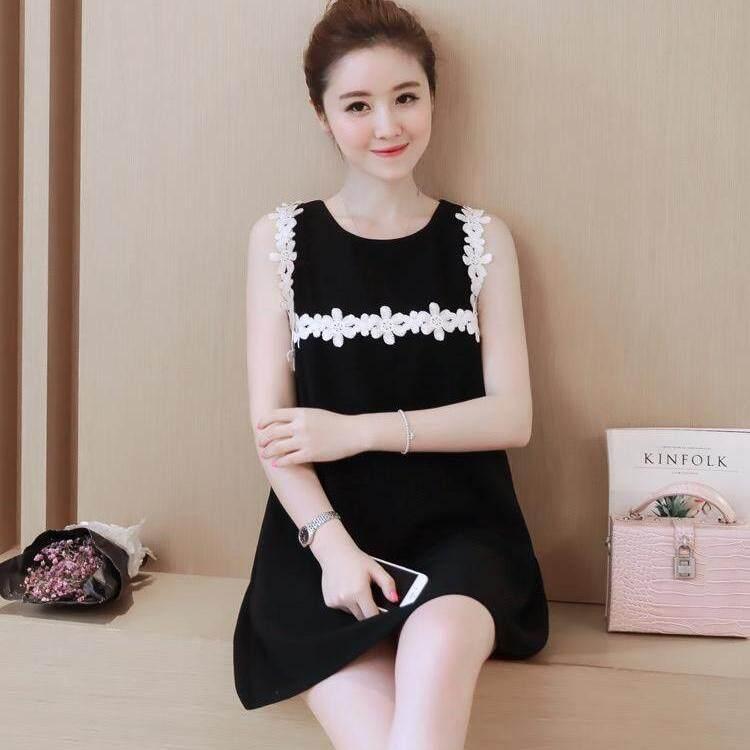 eca707b064c ET Store 2019 Free Shipping Summer Sleeveless Maternity Dresses Chiffon  O-neck Pregnant Women Clothing