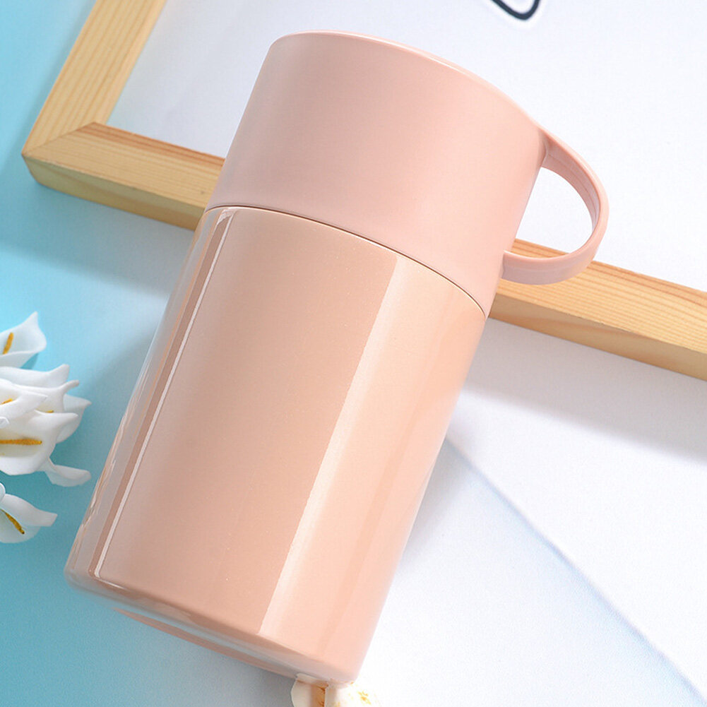 Office Food With Handle Thermal Carry Home 600ml Stainless Steel Leakproof Durable Vacuum Flask