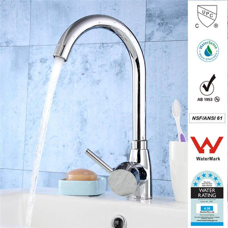 TAPCET G1/2 180° Rotatable Kitchen Bathroom Basin Sink Faucet Solid Brass Chrome Hot / Cold Water Mixer Tap