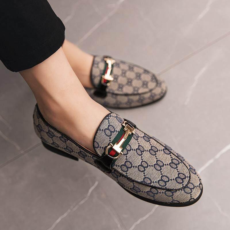38-47 ขนาดผู้ชายอย่างเป็นทางการ Loafers SLIP บนรองเท้ารองเท้าแตะ