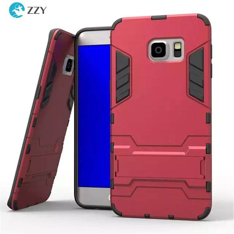 For Samsung S6 Edge Case Luxury Iron Man Shockproof Antiskid Hard Armor and Soft Silicone TPU