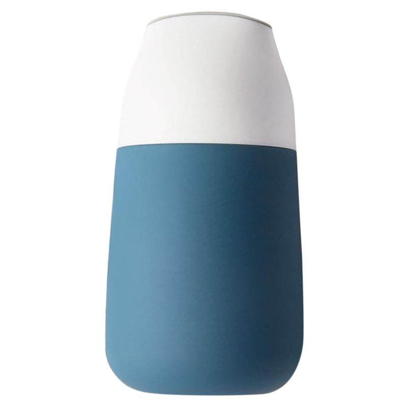 Kiss Kiss Fish Smart Travel Cup-Ther-Mos KKF Mini Vacuum-Therm-Os with OLED Contact Temperature Display-Blue