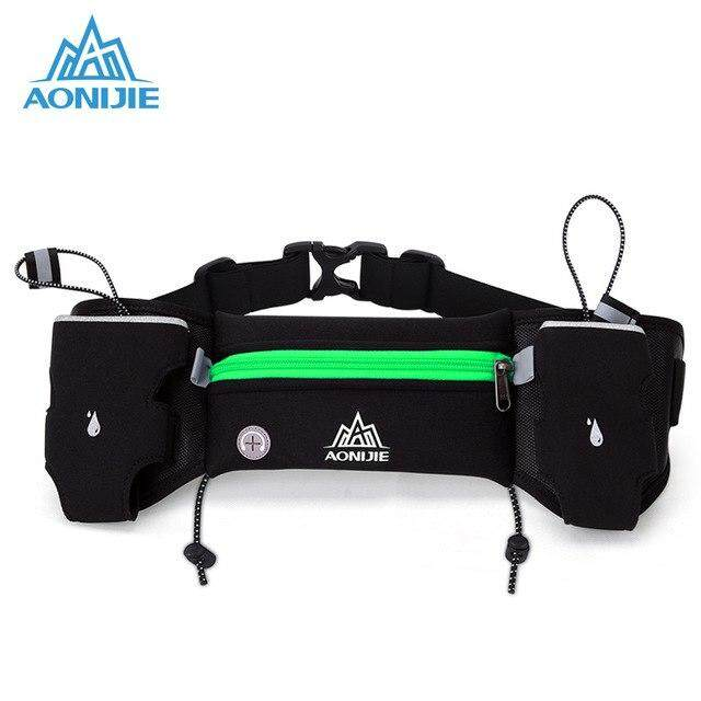 Aonijie Sport Waist Pack Running Hydration Belt Water Bottle Holder Triathlon Belt Running Hip Bag Men Women Green By The North Star.