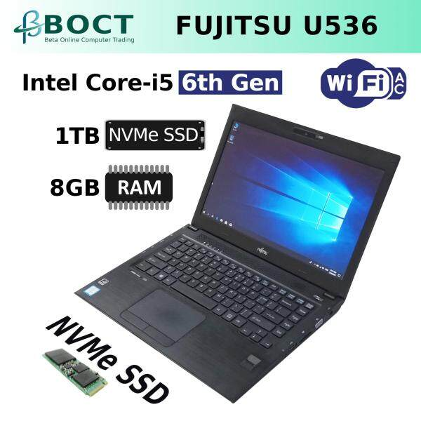 Fujitsu LifeBook U536 / Intel Core i5 6th Gen / 13.3-inch screen HD / Optional SSD or PCle NVMe / Optional Ram / HDMI / VGA / Webcam / Windows 10 Pro / Refurbished Malaysia