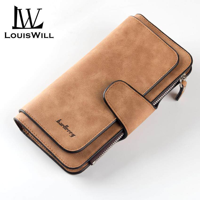 LouisWill Women Wallet Long Clutch Purse PU Leather Hand Bag Large Capacity Card Holder Zipper Coin
