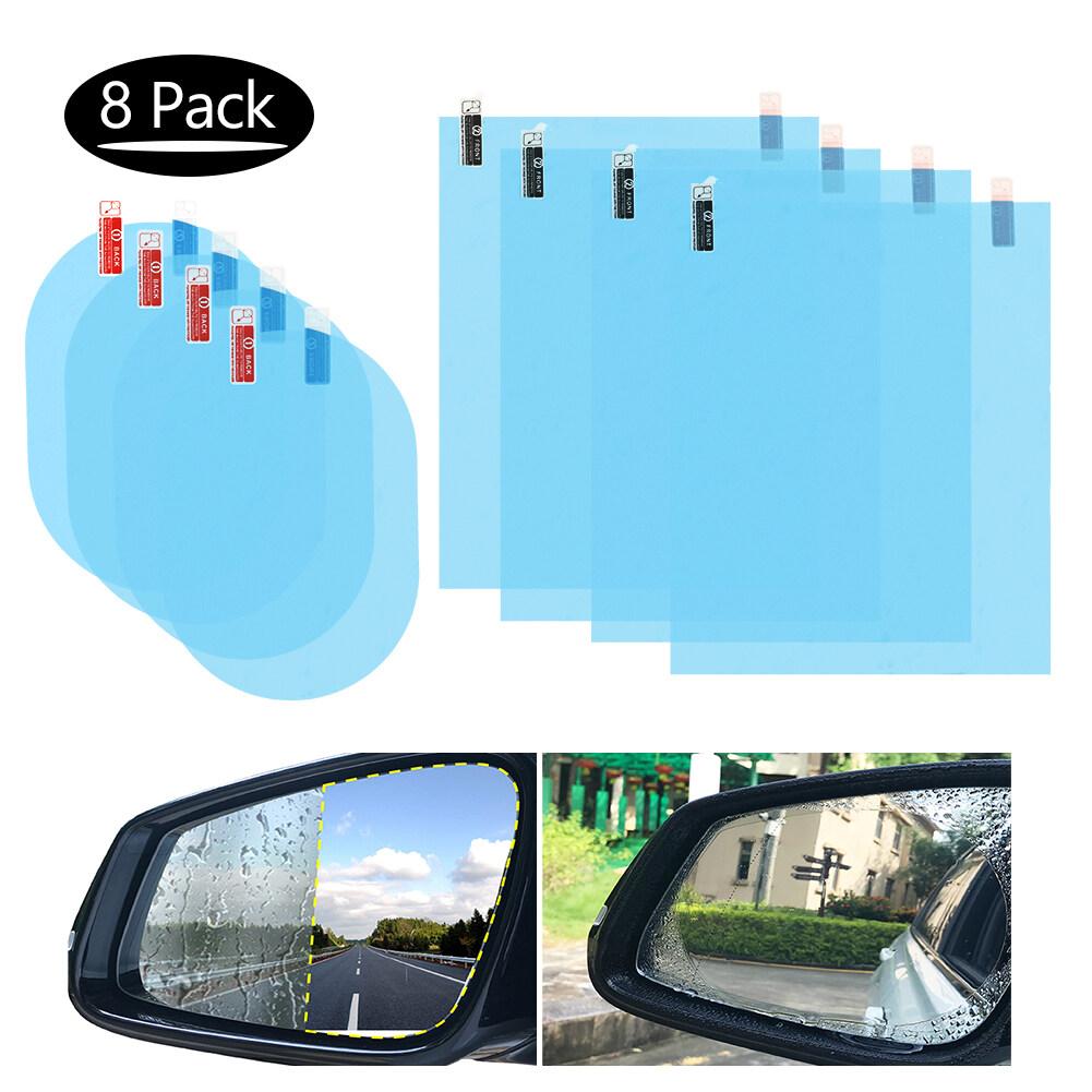 2 x Universal Car Rearview Mirror Film Rainproof Waterproof Anti Fog Accessories