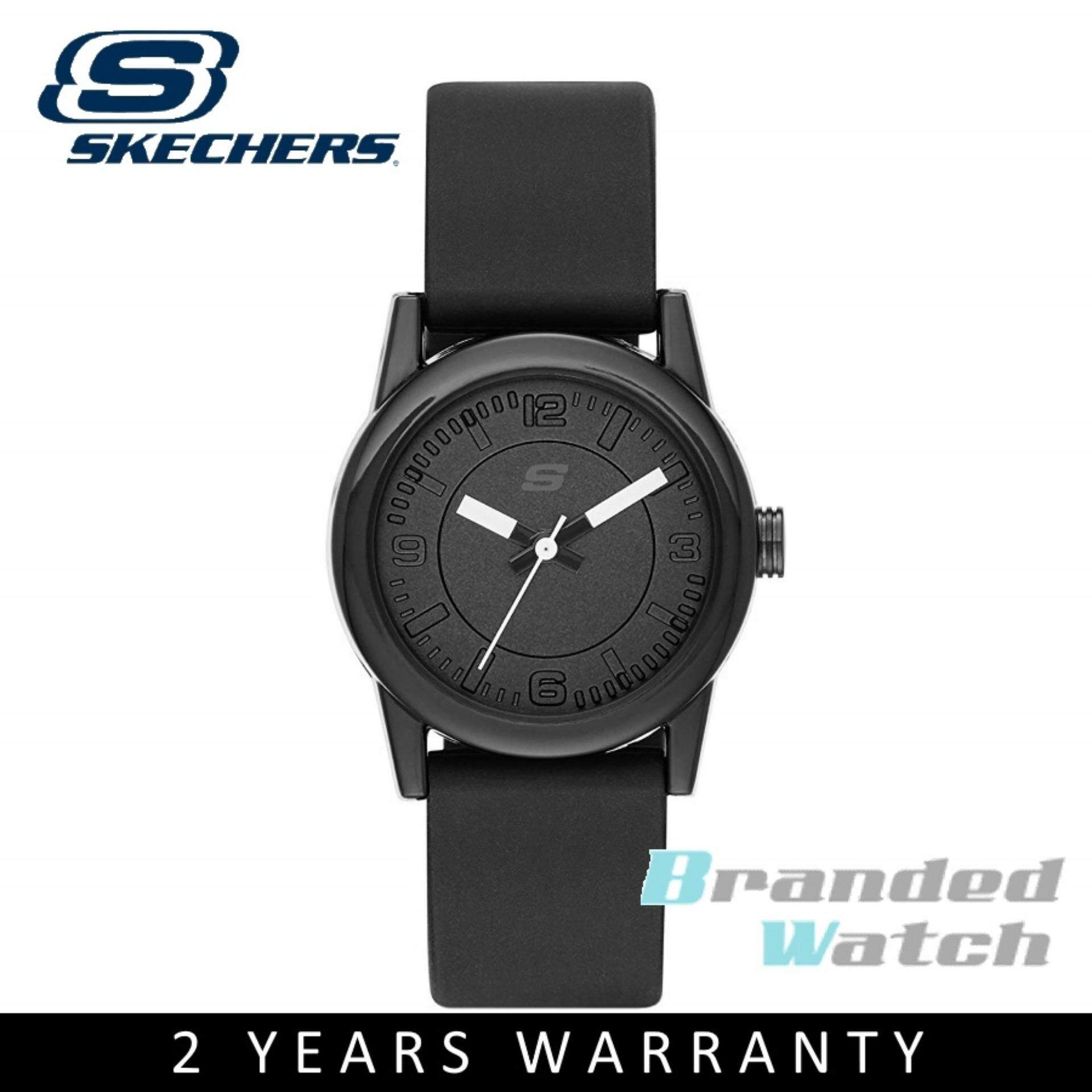 Skechers SR6028 Womens Quartz Analog Small Size Black Silicone Strap Watch Malaysia