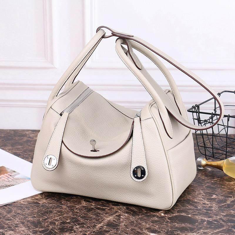 Large-capacity Leather Handbag Lindi Lychee Suede Leather Dumplings Shoulder Portable Bag Medicine Box