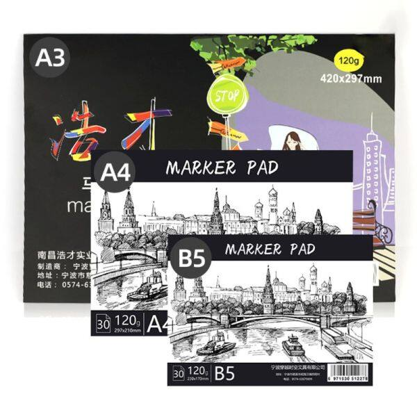 A3/A4/B5 Drawing Paper Pad Notebook Creative Art Book Sketch Book For Marker Art Paiting Diary Student Gifts 30 Sheets C26