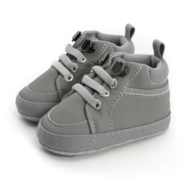 Mybabyme Bé Trai Sơ Sinh Giày Con Gái Giải Trí PU Thoải Mái Ấm Chống Giày Thể Thao Không Dây Buộc Giày Tập Đi Đế Mềm 0-18 Tháng giá rẻ