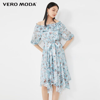 Vero Moda Đầm Nữ In Họa Tiết Hở Vai, 32026Z523 thumbnail