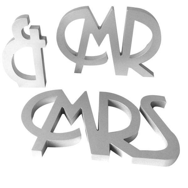Wooden MR MRS Wedding Decoration Props Standing Romantic Capital Letters Engament Party Ornament