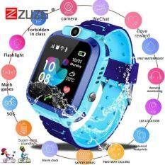 [ZUZG] Smart Watch with GPS GSM Locator Touch Screen Tracker SOS For Kids Children Support IOS/Android Multifunction Digital Wristwatch Positioning Cell Phone with 2G Sim Card