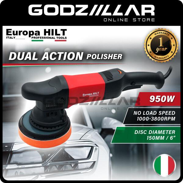 """[DA] Europa Hilt 950W Dual Action Car Polisher 6"""" Pad/Polisher Mesin Polish Kereta 1-YEAR WARRANTY"""