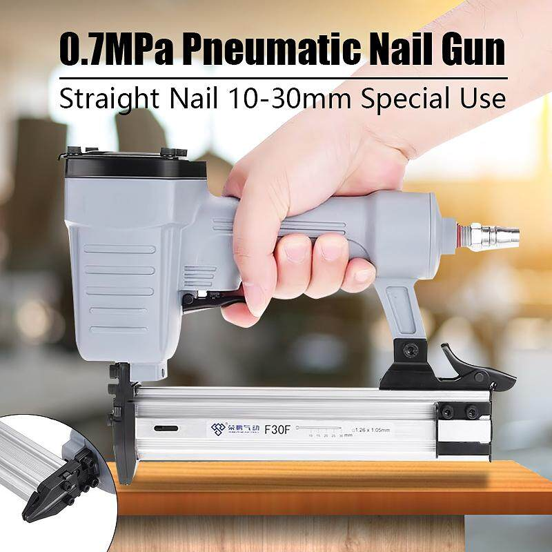 【New Arrival ON SALE】F30F Air Nailer Stapler Nail Tool 10-30mm Straight Pneumatic Woodworking Fram