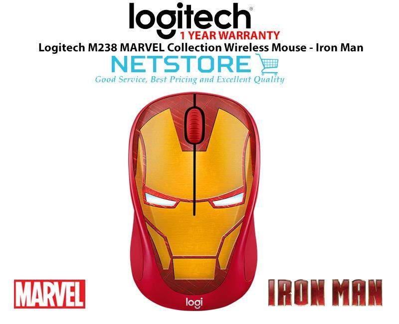 LOGITECH M238 MARVEL COLLECTION WIRELESS MOUSE - IRONMAN Malaysia