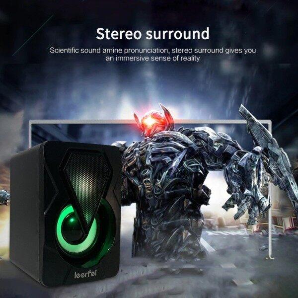 USB Speaker Laptop Desktop Stereo Speaker PC Computer Speaker YST-1046 Gaming Speaker with RGB LED Light ICON QUATRO Malaysia