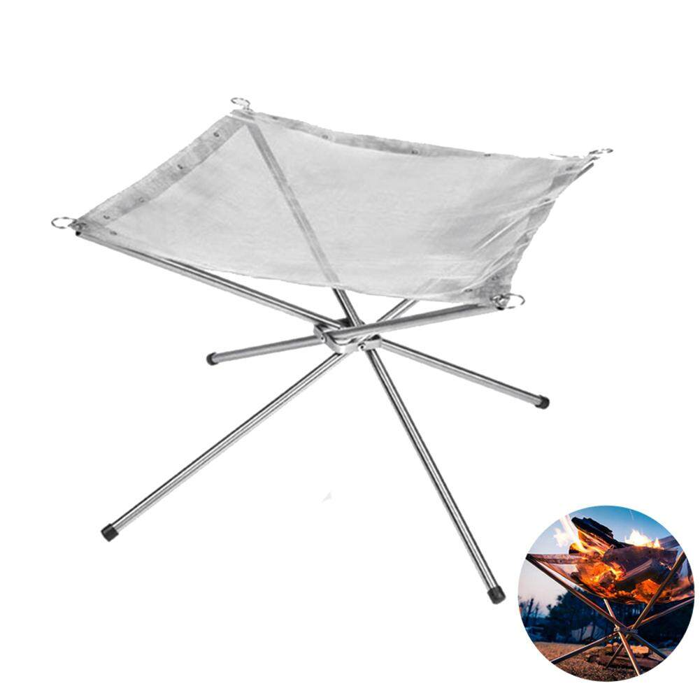 [HBX]Outdoor Fire Burn Pit Stand Portable Solid Fuel Rack Folding Stove Fire Frame Fast Heating Wood Charcoal Stove Camping Tool