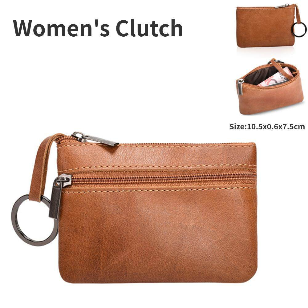 Luxury Genuine Leather Clutch Cell Phone Short Custom Wallets Multi Card  Organizer With Key Ring Coin f633de629e9a