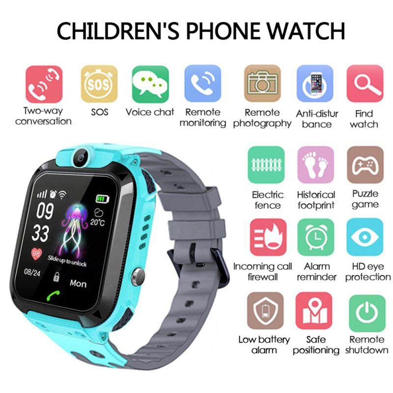 ailsen Q12 Anti-Lost Kid Smart Watch IP67 Waterproof LSB Positioning  Tracker S0S SIM Two-way Call Smart Watchs With Camera for Android IOS