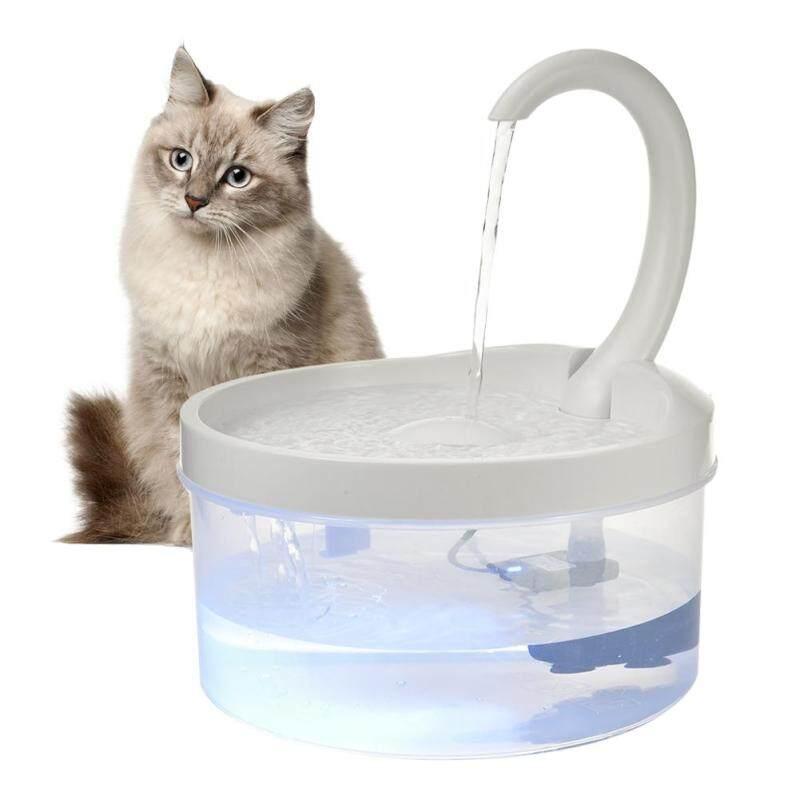 Bình uống nước cho thú cưng tự động 2L, bình uống nước cho chó ăn Bát Ăn Điện USB có đèn LED