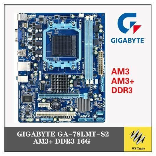 Socket AM3+//AM3 For AMD DDR3 Gigabyte GA-78LMT-S2 Motherboard 760G USB2.0 16G