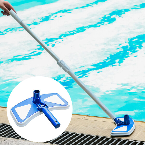 Perfk 14in Butterfly Pool Vacuum Head Clean Hair Hose for Ponds Cleaning Tools