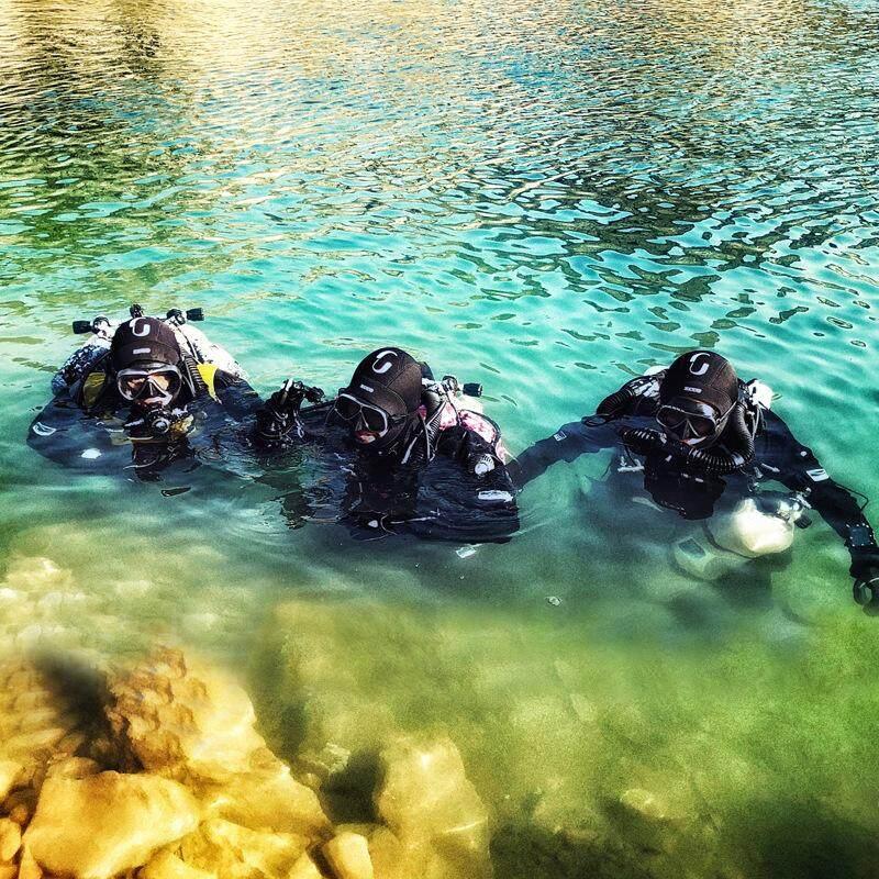 Nam Nữ GIỮ LẶN 3mm Neoprene Lặn Đầu Bao Lặn biển Hood Với Vai Lặn Thiết Bị Quốc Mùa Đông đầm Ấm Đồ Bơi Giữ Nhiệt Spearfishing - 4