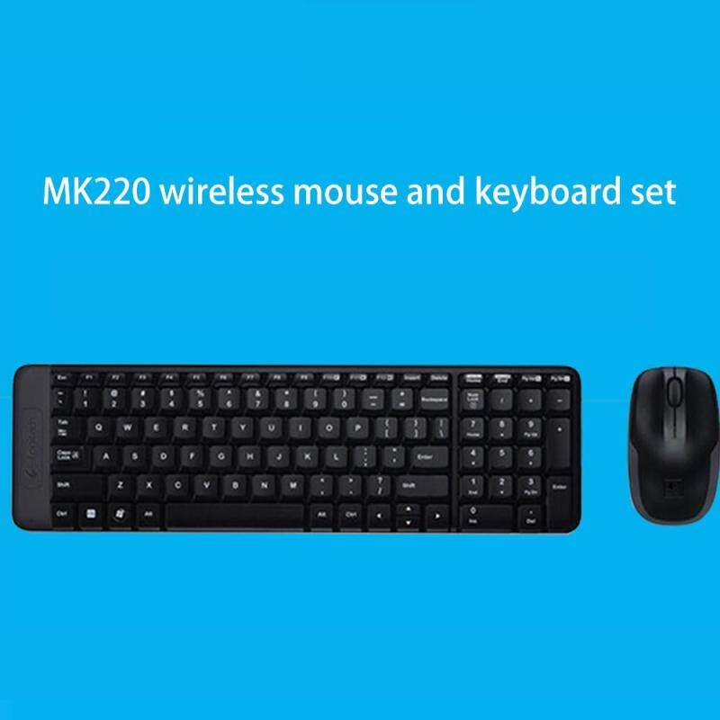 Logitech MK220 Wireless Keyboard Mouse Combo English Keypad LapTop Optical Ergonomics Singapore