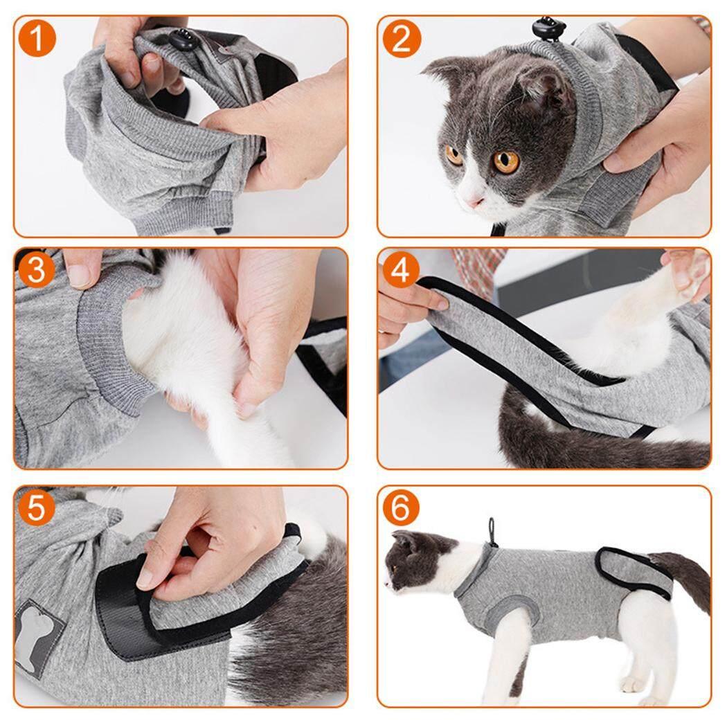 Phục hồi Bộ Đồ Thun Cotton Mềm Mại Bảo Vệ Thú Cưng Phù Hợp Với Quần Áo Thú Cưng cho Mèo, S - 2