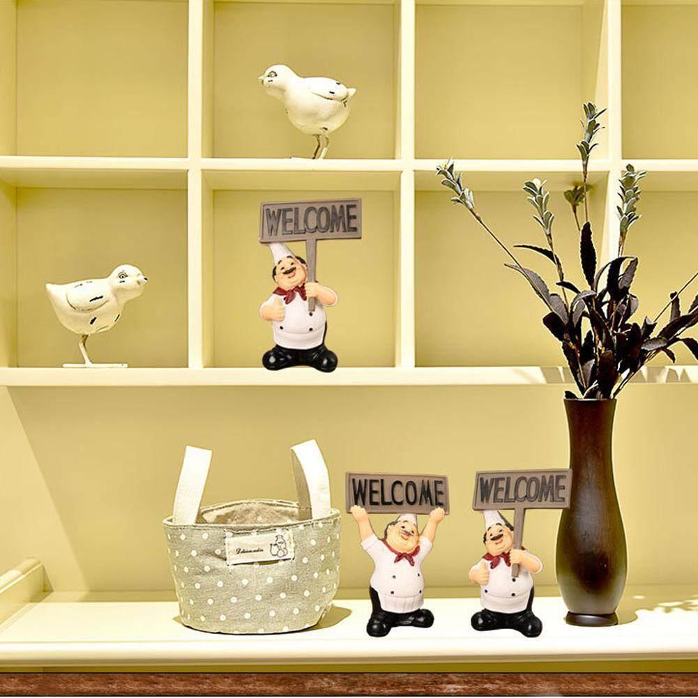 Qianmei Nhà Hàng Nhựa Dễ Thương Bức Tượng Đầu Bếp Tượng Nhỏ Đồ Trang Trí Chào Ban đồ trang trí bàn - 7