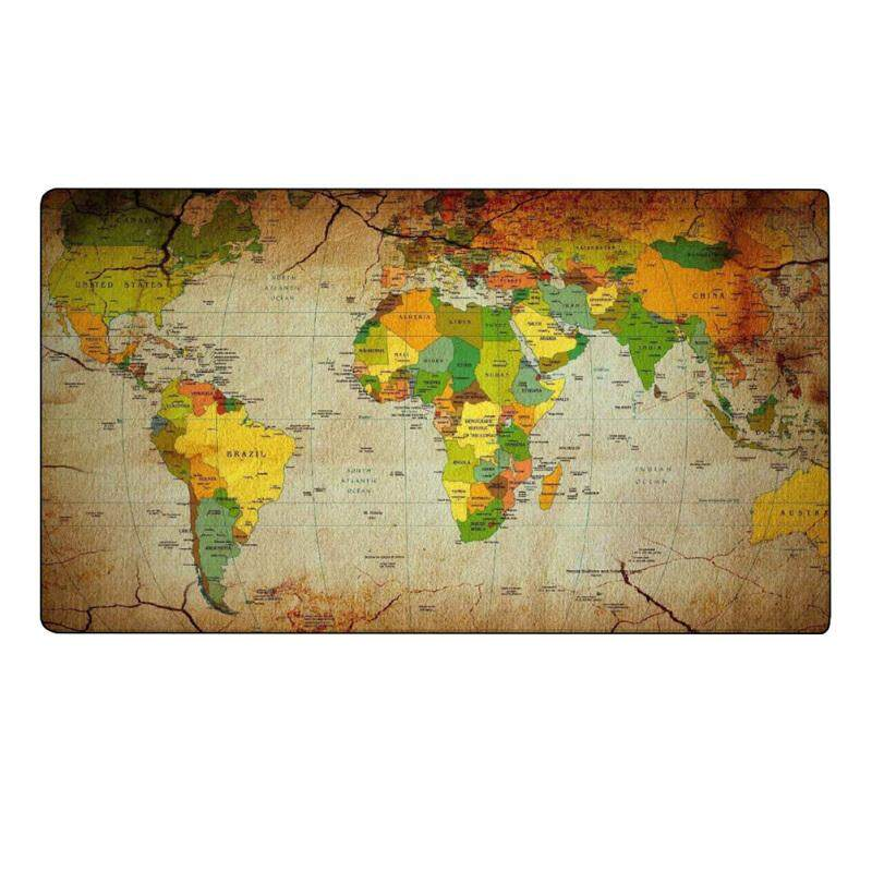 1Pcs Super Large Rectangle World Map Printed Mouse Cusion Novelty Chic Rubber Mouse Pad Desk Mat (5) Malaysia